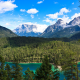 tyrolean alps, austria, alps, mountains, forest, lake, summer, nature, landscape wallpaper
