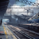 artwork, fantasy art, apocalyptic, train station, train, railway station, rails wallpaper