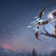 league of legends, ashe, lol, games, artwork, fantasy art, bow, arrow, women wallpaper