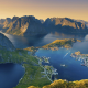 lofoten islands, norway, sea, mountsins, nature wallpaper