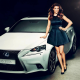agnieszka radwanska, lexus, car, women, wta, tennis, dress, brunette wallpaper