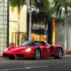 ferrari enzo, car, street, ferrari, palm trees wallpaper
