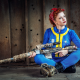 women, redhead, cosplay, Fallout, Fallout 4, video games, rifles, sniper rifles, women with guns wallpaper