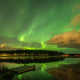 northern lights, lulea, sweden, lake, aurora, nature, clouds, night,  wallpaper