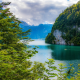 konigssee lake, bavarian alps, bavaria, germany, lake, forest, nature wallpaper