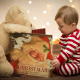 christmas, new year, baby, child, boy, book, toy, teddy bear wallpaper