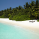 shangri-la villingili resort and spa, maldives, ocean, beach, palm, tropical wallpaper