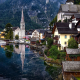 hallstatt, austria, lake hallstatt, alps, reflection, city wallpaper