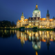 new town hall, maschpark, hanover, lower saxony, germany, city, reflection wallpaper