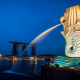merlion, marina bay sands, hotel, singapore, city wallpaper