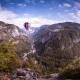 yosemite national park, california, hot air balloon, nature, mountains wallpaper