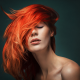 women, face, closed eyes, redhead wallpaper