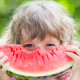 watermelon, child, baby, eyes, food wallpaper