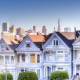 painted ladies, san francisco, house, city, building, neighborhood, usa wallpaper