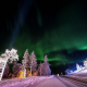 akaslompolo, finland, northern lights, aurora, night, tree, winter, snow, nature wallpaper