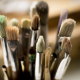 paintbrushes, macro wallpaper
