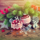 balls, christmas, decorations, pine branch, balls wallpaper