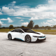 bmw i8 matte,clouds, car, bmw i8, bmw wallpaper