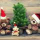 teddy bear, christmas, christmas tree, toy wallpaper
