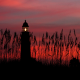 sky, sunset, lighthouse, nature,  wallpaper