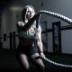 crossfit, rope, workout, women, sport, gym wallpaper