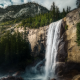 vernal falls, yosemite, waterfall, nature, mountains wallpaper