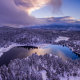goldwater lake, arizona, usa, winter, snow, nature, lake wallpaper