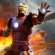 iron man, marvel comics, helicopter, fire wallpaper