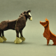 origami, horse, dog wallpaper