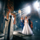 priest, wedding, groom, bride, church, weddinf dress, light wallpaper