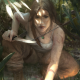lara croft, artwork, tomb raider, knife wallpaper