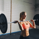 crossfit, workout, weight lifting, women, gym, sport wallpaper