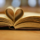 books, hearts, depth of field wallpaper