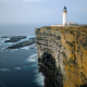 noup head lighthouse, westray, orkney, sea, cliff, coast, nature, lighthouse wallpaper