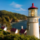 heceta head light, lighthouse, oregon coast, nature, ocean, beach wallpaper