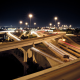 city, Freeway, night, long exposure, road wallpaper