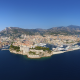 oceanographic museum, monaco, birds eye view, monte carlo, monte carlo, sea, nature, city,  wallpaper