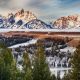 snake river, grand teton national park, nature, landscape, snow, tree, mountains, wimter wallpaper