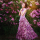 lilac, lilac dress, women, model, flowers, dress wallpaper