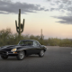 car, Jaguar E-Type, Jaguar, road, cacti wallpaper