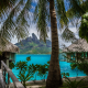 nature, landscape, tropical, island, beach, resorts, palm trees, sea, Bora Bora, Vacations, summer,  wallpaper