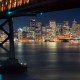 bay bridge, beacon, san francisco, yerba buena island, night, california, usa, city wallpaper