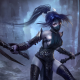 league of legends, akali, armor, blood, mask, lol, video games, art wallpaper