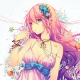 vocaloid, megurine luka, ribbon, seashells, starfish, jewelry, anime wallpaper