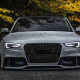 audi, supercar, tuning, rain drops, wet, autumn, cars wallpaper
