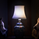 dog, lamp, comfort, rest wallpaper