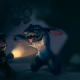 lilo and stitch, night, dark, light, girl, stranger, cartoon wallpaper