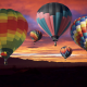 balloons, sky, sunset, nature, hot air balloons wallpaper
