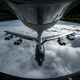 boeing, b-52, stratofortress, aircraft, aviation, clouds, aircraft refueling, tanker wallpaper