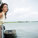 katharine mcphee, singer, actress, models, cbs watch, dress, brunette, water, boat wallpaper